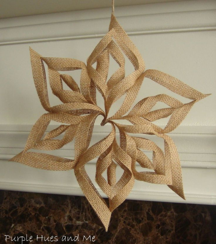 453 best snowflake crafts images on pinterest christmas crafts burlap 3d snowflakes solutioingenieria Images