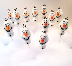 Olaf cake pops By blakers dozen