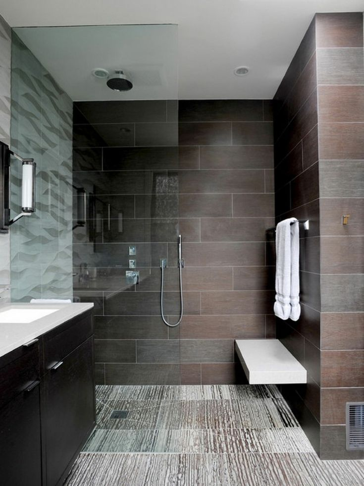 azulejos de baño de color marrón