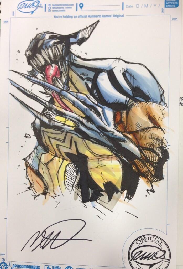 Wolverine/Venom by Humberto Ramos