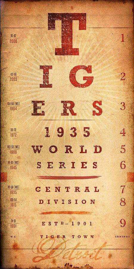 Detroit Tigers: MLB Eye Chart -  Historic Seasons - - would make a great Perfect Gift!