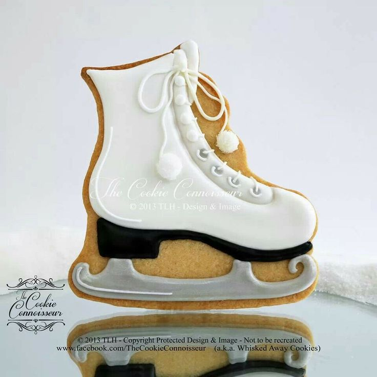BEAUTIFUL Ice Skate Cookie, The Cookie Connoisseur, This is fabulous!