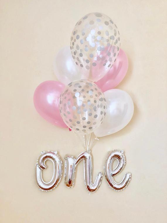 1st Joyeux Anniversaire Ballon Lettres Ballons Set Baby Shower Party Decor