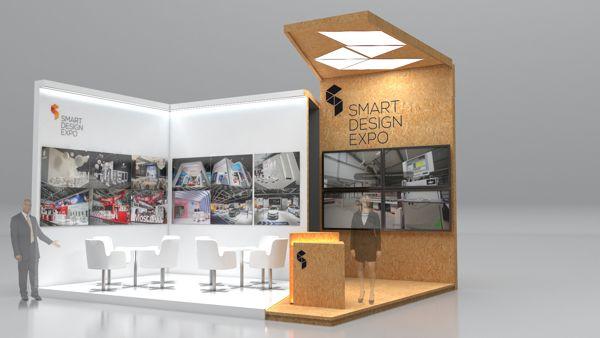 4 concepts of an expo stand by Paweł Wysocki, via Behance
