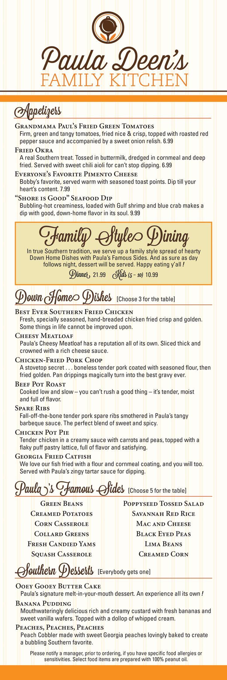 38 best dinner at paula deen u0027s family kitchen images on pinterest