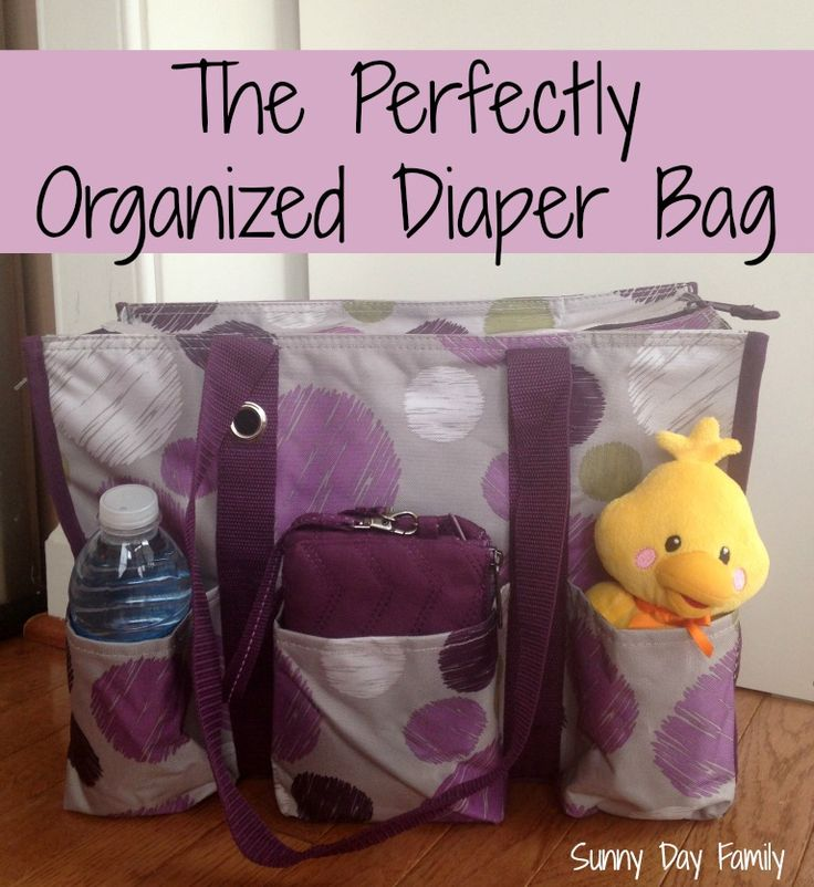 The Perfectly Organized Diaper Bag! Get all your baby/toddler gear under control for under $50! A fabulous organizing system on sale in January from Thirty-One! {Sunny Day Family}