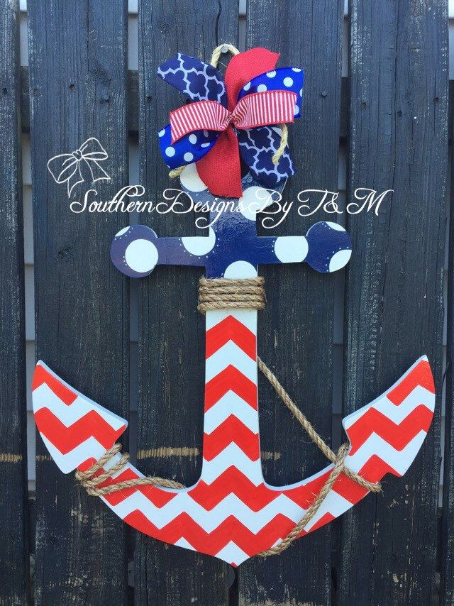 Wooden anchor door hanger wall decoration nautical decor beach decor Lake decor & 29 best Anchor Door Hangers images on Pinterest | Anchors Anchor ...