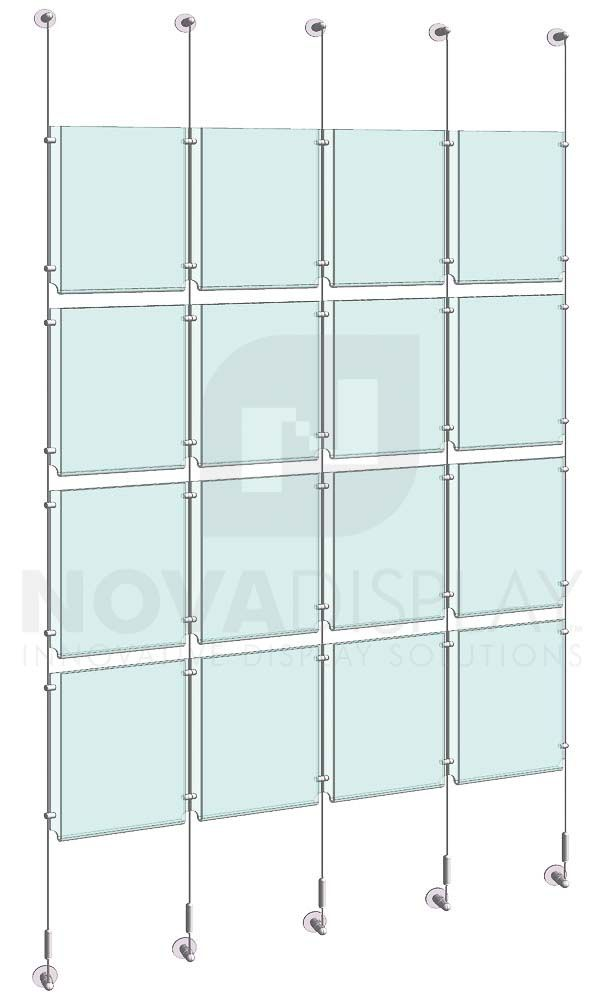Cable Rod Suspended Easy Access Acrylic Poster Displays Ndsi Store Poster Display Display Holder Design