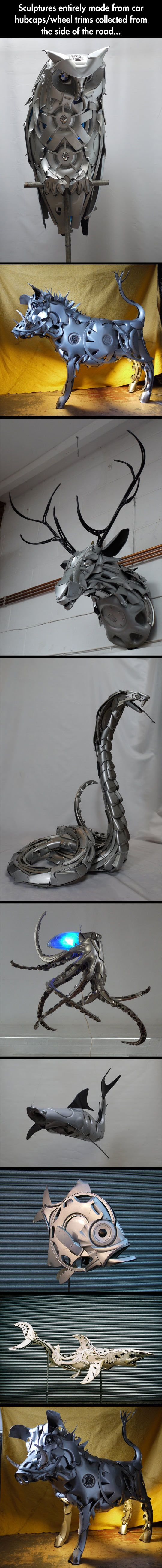 Epic Sculptures From Car Parts