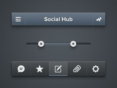 Social Hub Menu by Alexander Zaytsev #iOS #app #social