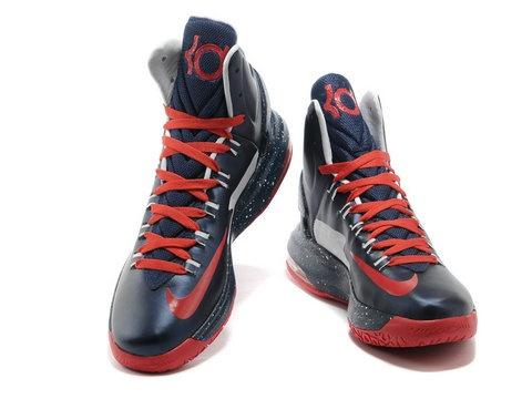 Nike Zoom KD 5 V Dark Blue Red,Style code:554988-100,