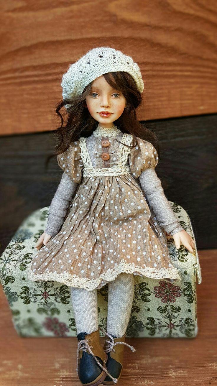 25см, подвижная кукла hand made