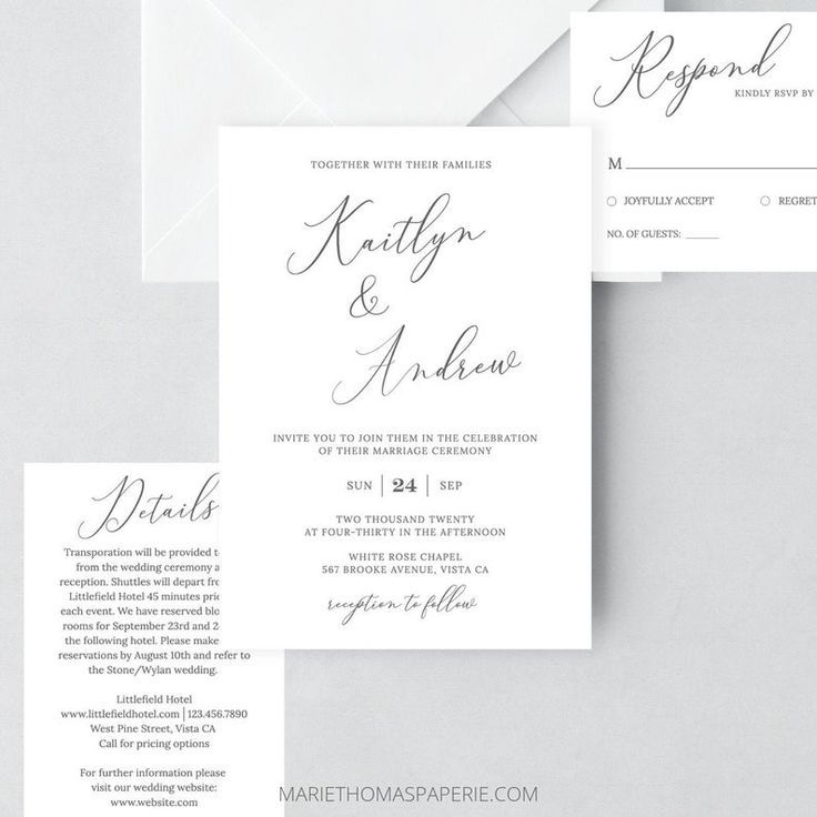 Emelia Wedding Invitation Template