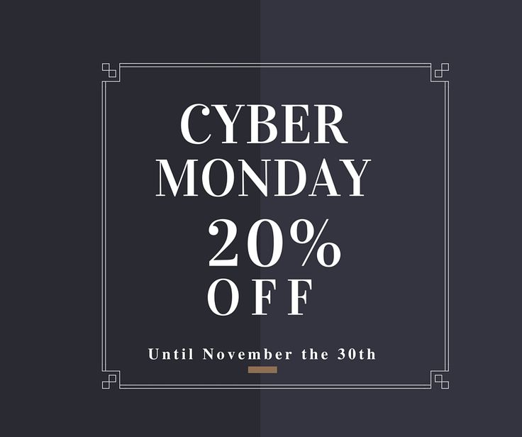 #CyberMonday Flash Sale! 20% OFF Discover the #promotion!