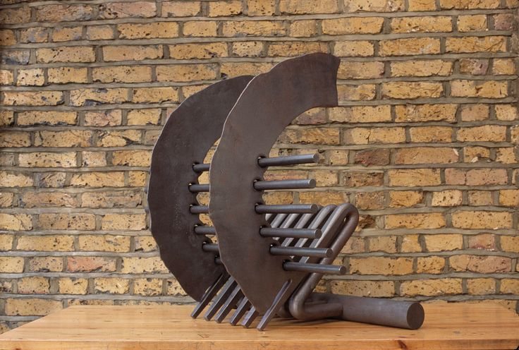 Firebasket Latin Sweep by Andrew Smith.  Forged Steel. Andrew Smith is a Tutor in Blacksmithing Short Courses at West Dean College @westdeancollege #westdeancollege