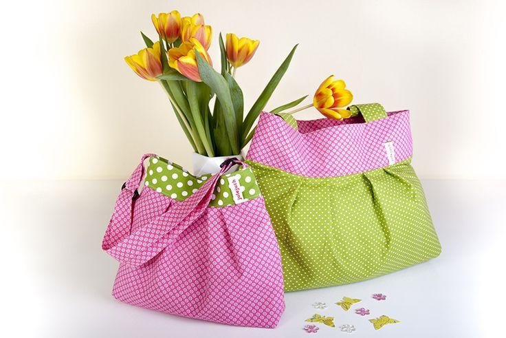 Taschenset bestehens aus 2 Taschen für Mamas und Töchter, Tanten und Nichten, große und kleine Schwestern, Patentanten und Patentöchter oder, oder,...