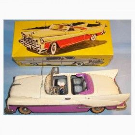 Günthermann Tin-Cars Ford Cabrio lithographed with driver...