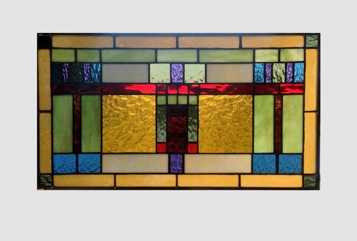 Arts and crafts stained glass panel window hanging amber stained glass window panel stained glass mission prairie style glass valance 0078 by SGHovel on Etsy https://www.etsy.com/listing/245822730/arts-and-crafts-stained-glass-panel