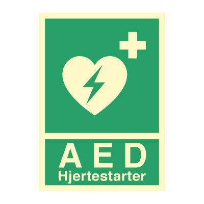 AED Hjertestarter - Bestill Nødskilt online