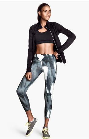 PATTERNED YOGA PANTS | The TOTEFISH Blog.  Patterned sport tight pants $25