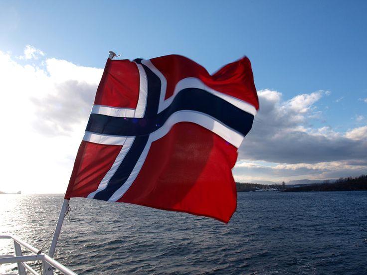 Norwegen Oslo Flagge