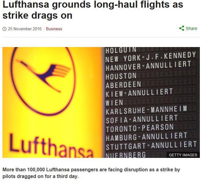 Lufthansa grounds long-haul flights as strike drags on: lufthansa baggage allowance, lufthansa check in, lufthansa reviews, lufthansa customer service, lufthansa miles and more, lufthansa careers, lufthansa flight status, lufthansa canada http://www.bbc.com/news/business-38104741