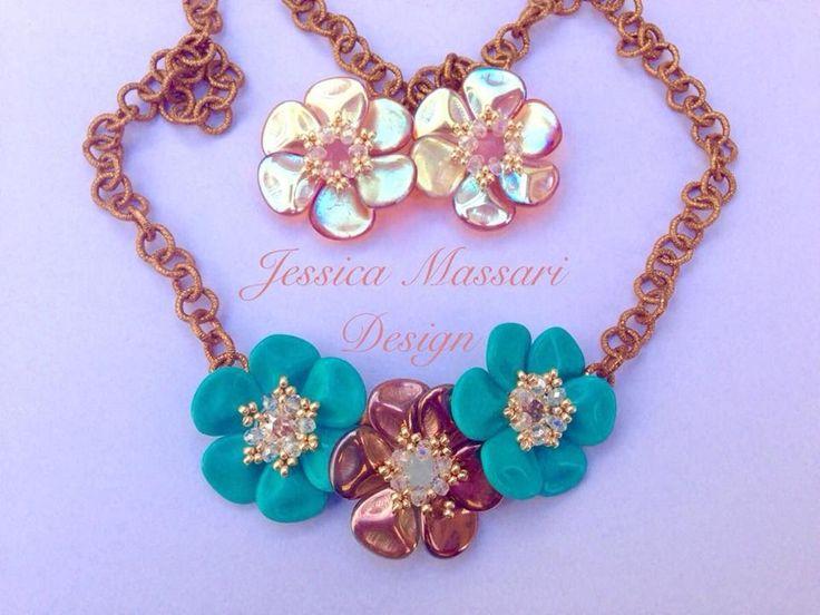 DIY Beaded Flower Swarovski Crystal Necklace Jewelry ...