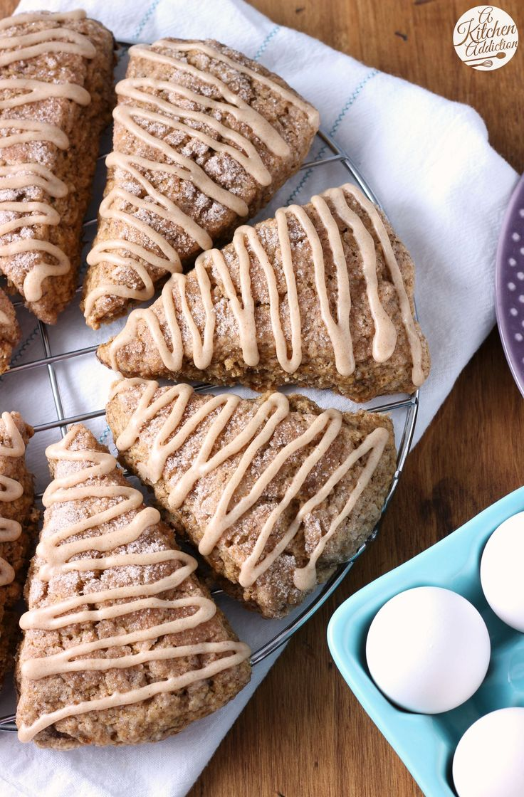Honey Cinnamon Banana Bread Scones Recipe from A Kitchen Addiction