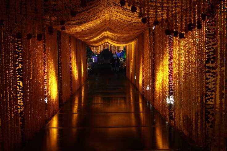 Such a pretty entrance for a Mehndi (traditional Pakistani evening of singing and dancing before the wedding)