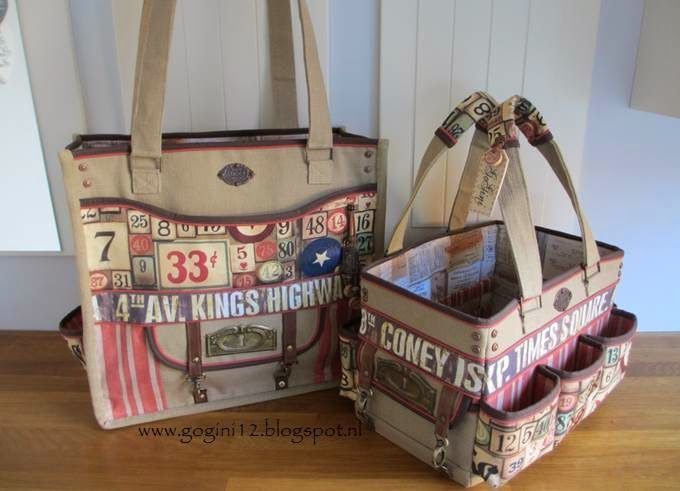 love these bags made with Tim Holtz fabrics