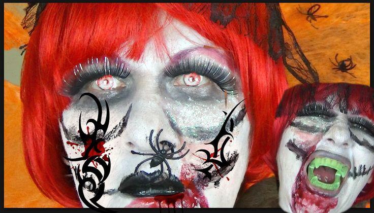 Queen of Halloween Full tutorial Maceup