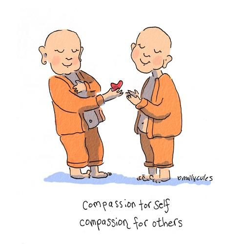 Buddha Doodles: Compassion for self; Compassion for others