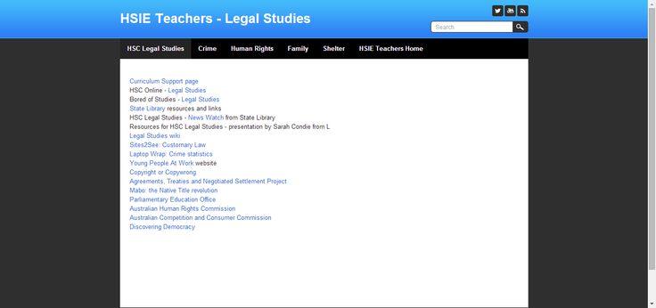 HSIE Teachers - Legal Studies - HSC Legal Studies