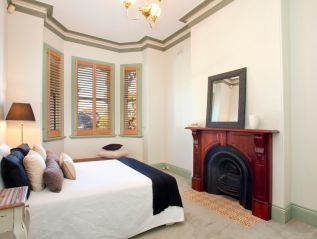 double bedroom, fireplace, styled, manchester, pillows