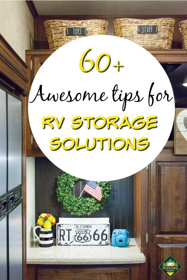 E Book Create Space From Thin Air Ideas For Adding Storage To Your Rv Or Other Tiny Home Rv Storage Solutions Rv Organization Rv Storage