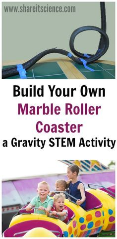 Roller Coaster Gravity STEM activity. Learn about gravity with this book linked hands-on STEM activity. Also includes weight in space gravity printable activity. #science #Homeschooling #handson #education #scied #physics #engineering #stem