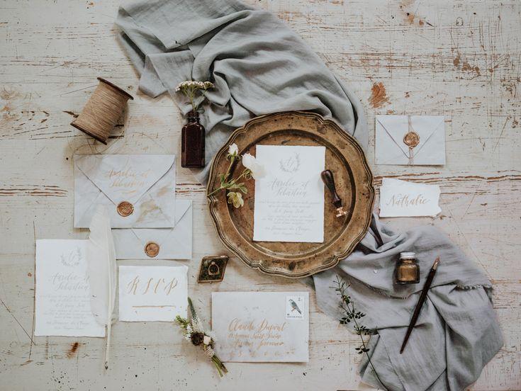 wedding invitations - http://ruffledblog.com/hungarian-chapel-elopement-editorial
