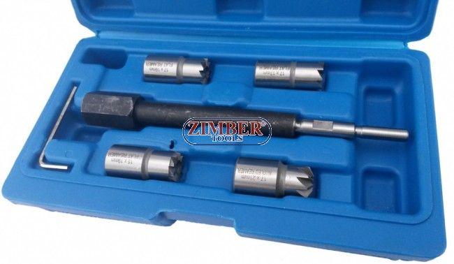 К-т за почистване леглата на дизелови дюзи Common Rail (К-т фрезери за легла на дюзи) ZT-04A3001 - SMANN TOOLS