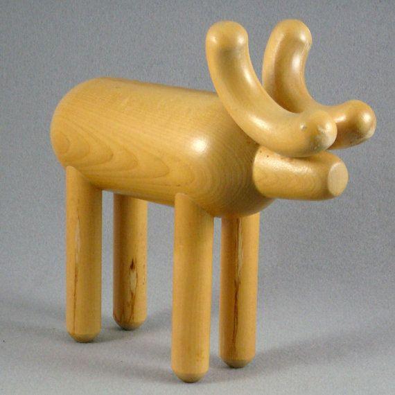 Aarikka Finland Wooden Moose on Etsy, $57.51 AUD