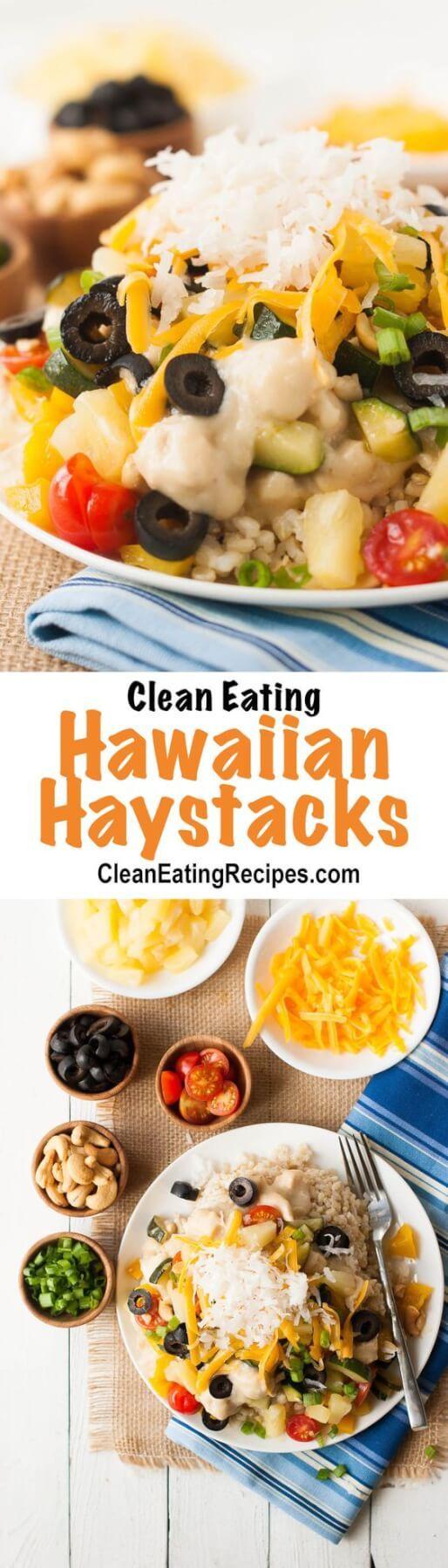 Clean Eating Homemade Hawaiian Haystacks Recipe