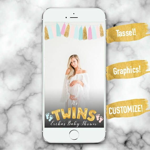 Twins Snapchat Filter It S Twins Snapchat Filter Boy Or Girl Gender Reveal Baby Shower Snapchat Fi How To Have Twins How To Memorize Things Baby Boy Shower