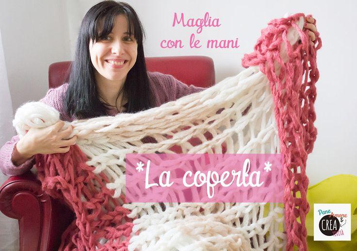 arm knitting blanket video tutorial