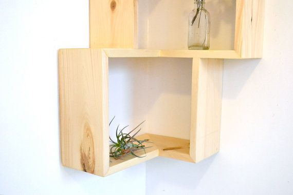 Double Corner Box Shelf by The807 on Etsy