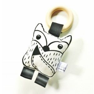 Hand printed fox teether #ohswag #babytoys #oneofakind