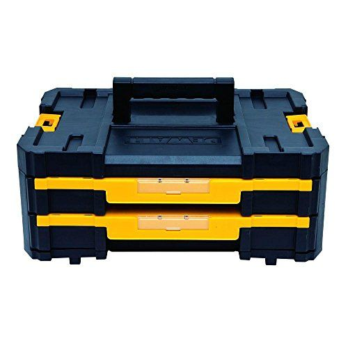 (~$39) TSTAK 2-Drawer stackable Tool box  Buy Several, and stack them on the 4-wheel cart.