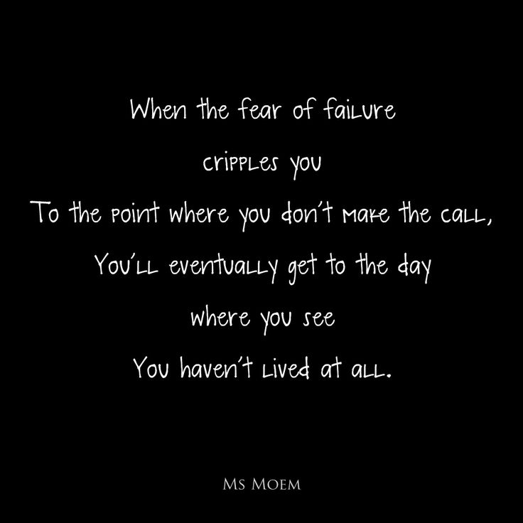 Famous Quotes About Overcoming Failure: Fear Of Failure Quotes. QuotesGram