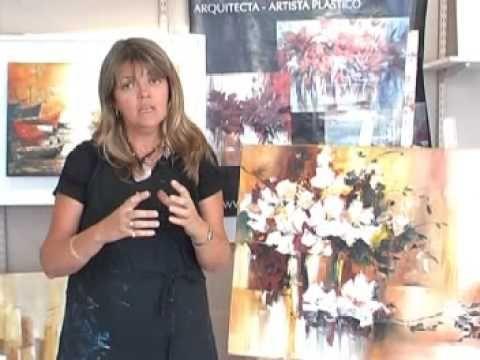 MICRO H - VIDEO Jarrón con Flores Caídas CON PINCEL Y ESPATULA BUEN VIDEO