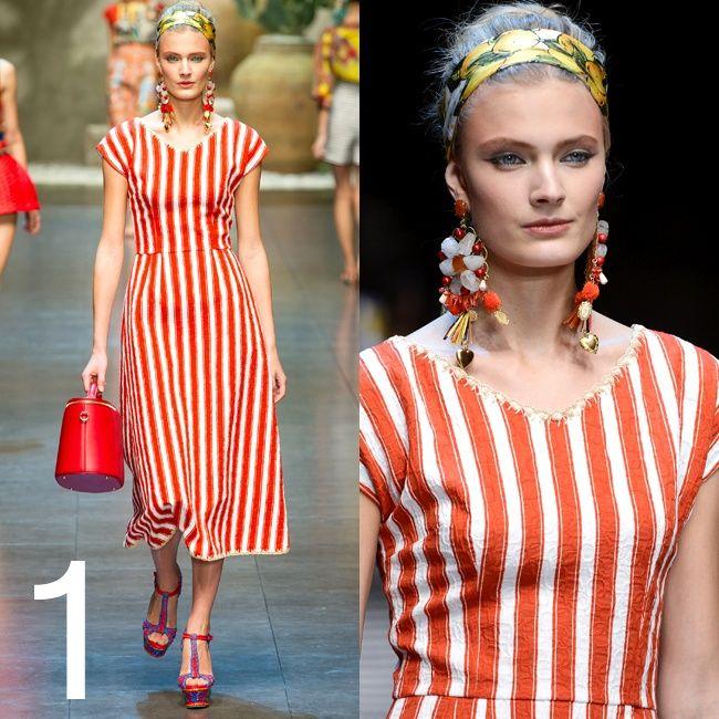 """1 L'ABITO A RIGHE:  L'abito a righe Bianche e rosse. Blu e bianche. O come preferite... L'effetto delle stripes, possibilmente maxi, deve essere quello """"sdraio al mare"""", mentre i volumi devono essere semplici al limite del minimal, dal tubino allo chemisier. Oltre a Dolce, il trend è stato """"abbracciato"""" da Michael Kors, Marc Jacobs e Moschino.    #OUTFIT #FASHION #GLAMOUR"""