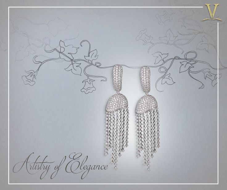 With precise attention to each stone, the charismatic diamond danglers fashioned uniquely for you. #ArtistryOfElegance
