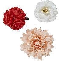 Riviera - Assorted Flower Salon Clip Set 3 Pc in  #ultabeauty
